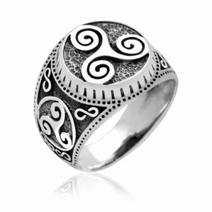 925 Sterling Silver Viking Triskelion Celtic Pagan Handcrafted Ring
