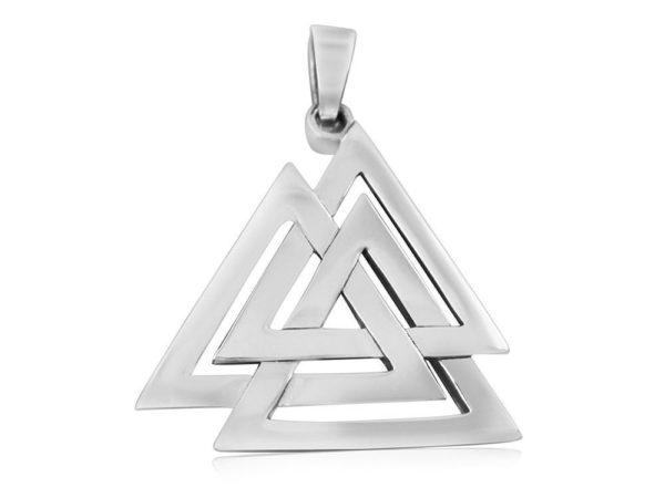 925 Sterling Silver Nordic Norse Valknut Viking Odin Asatru Pagan Pendant 6gr