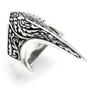 925 Sterling Silver Viking Raven Skull Handmade Ring