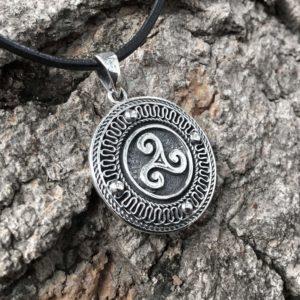925 Sterling Silver Celtic Triskelion Pagan Pendant