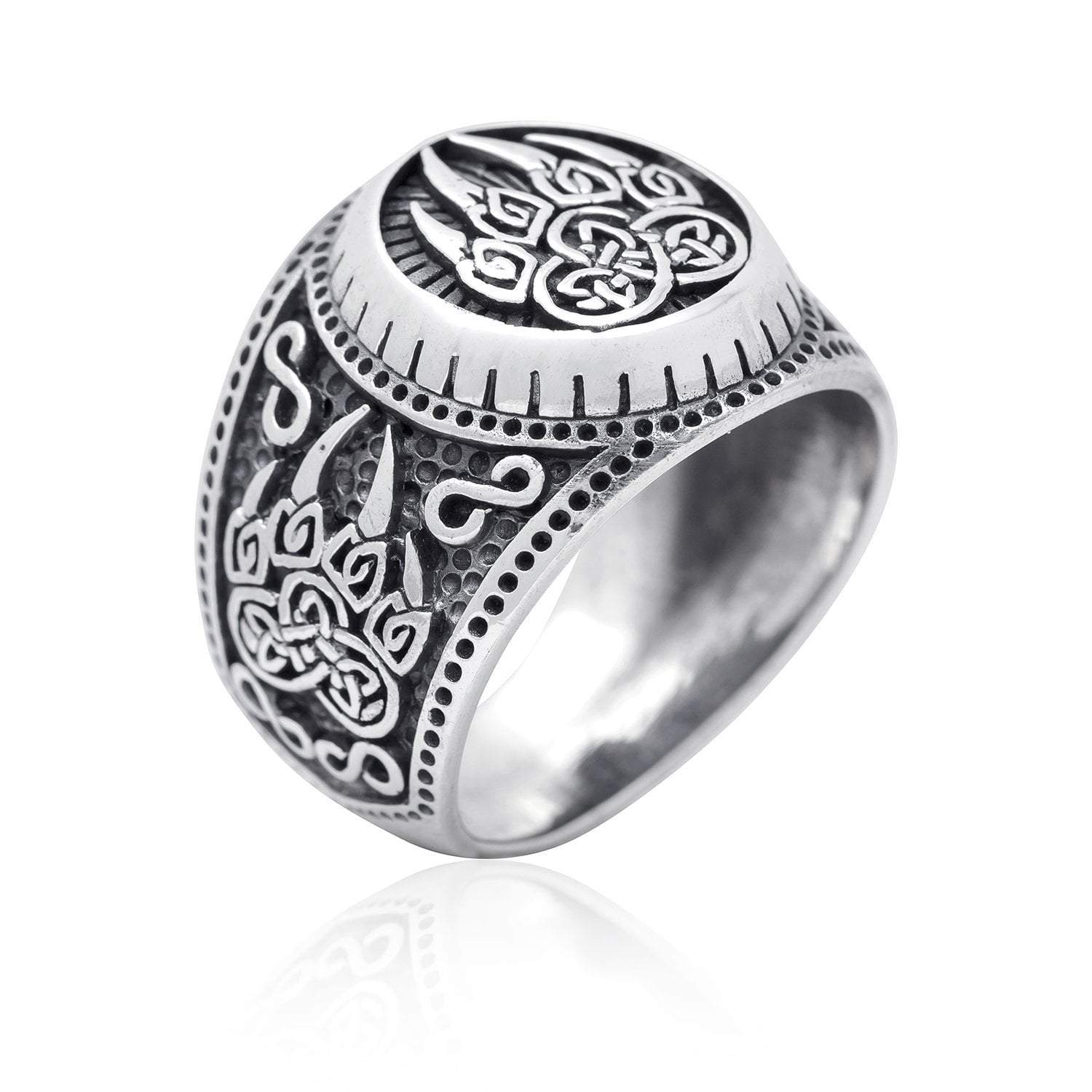 925 Sterling Silver Viking Print Bear Paw Claw Slavic Warding Veles Signet  Ring ⋆ Silverviking