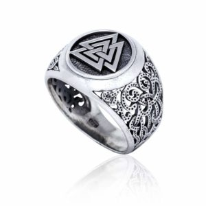 925 Sterling Silver Viking Jewelry Valknut Mammen Style Norse Scandinavian Ring