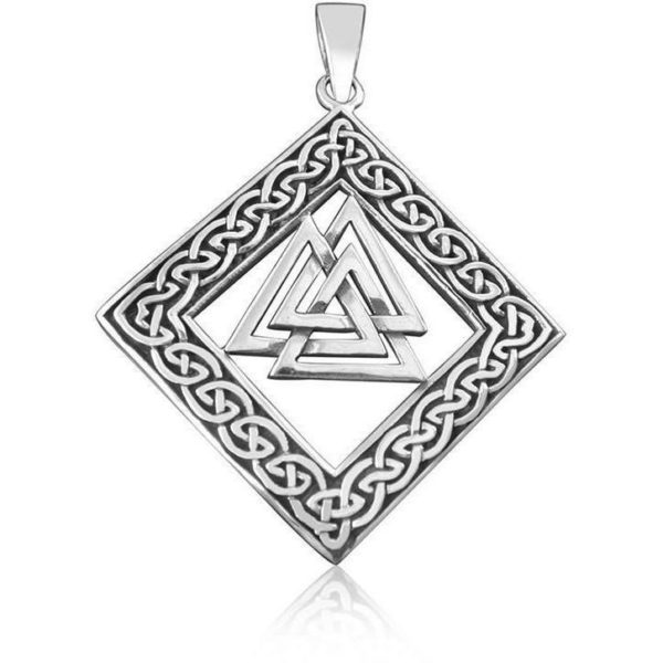 925 Sterling Silver Celtic Infinity Knots Knotwork Norse Valknut Viking Pendant