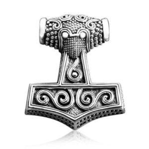 925 Sterling Silver Viking Odin Thor Hammer Mjölnir Mjolnir Norse Nordic Pendant